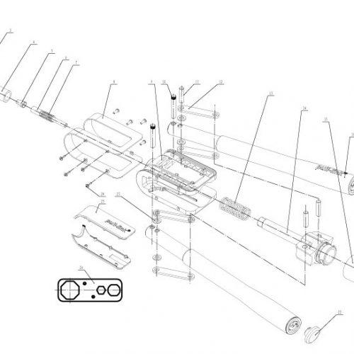 popnageltang Pull-link ASR-64 onderdelenoverzicht