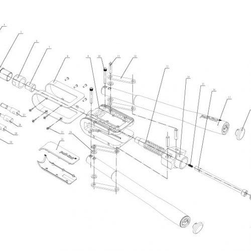 popnageltang Pull-link ASN-10N onderdelenoverzicht
