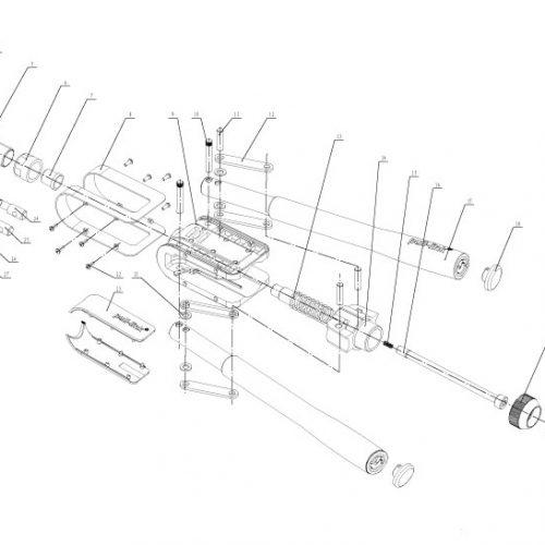 popnageltang Pull-link ASN-10S onderdelenoverzicht