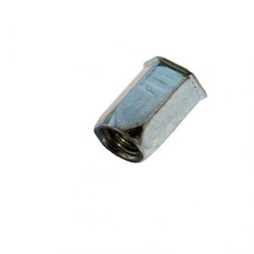 blindklinkmoer staal klein verzonken kop zeskant open type
