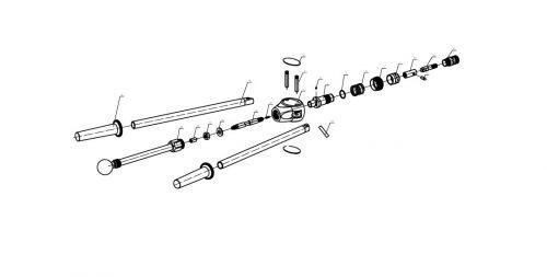 blindklinkmoertang Pull-link PL-10NS onderdelenoverzicht