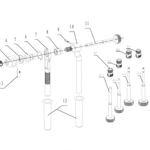 blindklinkmoertang Pull-link PL-12N onderdelenoverzicht