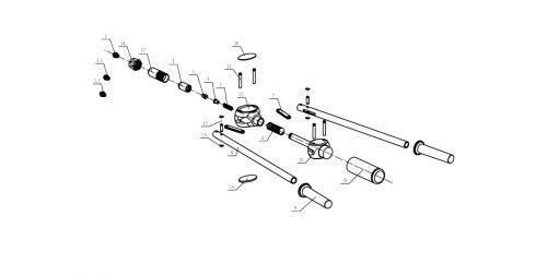 popnageltang Pull-link PL 50R onderdelenoverzicht