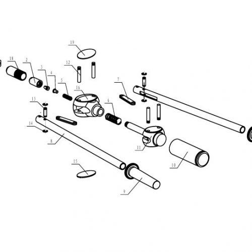 popnageltang Pull-link PL-64R onderdelenoverzicht