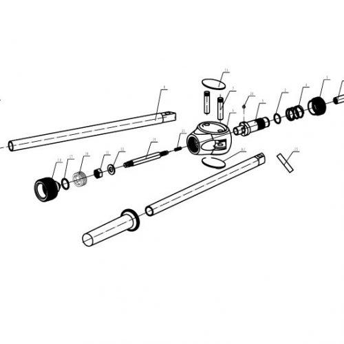 blindklinkmoertang Pull-link PL-6N onderdelenoverzicht