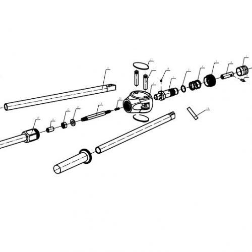blindklinkmoertang Pull-link PL-6NS onderdelenoverzicht