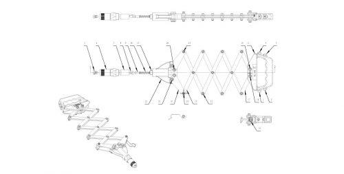 popnageltang Pull-link PL-80R onderdelenoverzicht