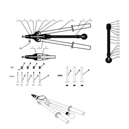 blindklinkmoertang Pull-link PL-10 onderdelenoverzicht